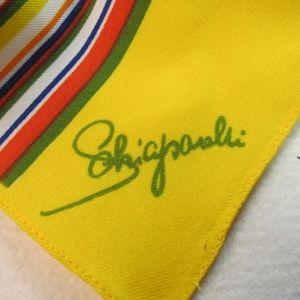 VNTG Elsa Schiaparelli Rectangular Striped Scarf